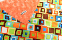 Orange /w Rust Block Minky - 'Lankie - Regular $20