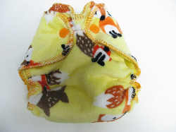 Yellow Fox Minky /w yellow organic bamboo velour - newborn