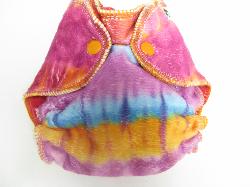 Pink Tie Dye Minky /w fushcia Cotton velour - newborn