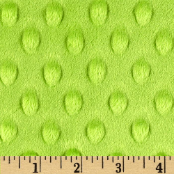 "3.8yd x 60"" Lime Dot - MINKY fabric"