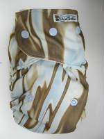 Blue Swirl /w chocolate organic bamboo velour - PUL Ai2