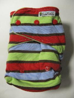 Summer Stripe /w sage cotton velour - T&T multi-size