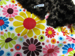 Chocolate /w white flower child Minky - 'Lankie - Regular $20