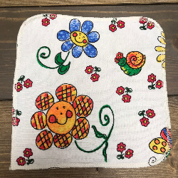 Flowers/Velour Wipe