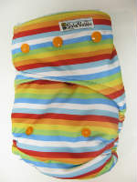 Rainbow Stripe (imported) /w seafoam cotton velour - T&T multi-size
