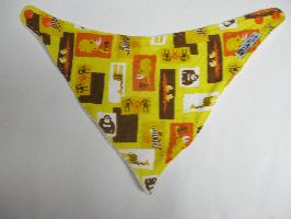 SALE! Yellow Zoo knit - Bandana Dribble Bib