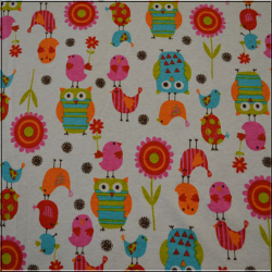 Owls  Birds and Flowers 1