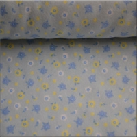 Blue Flower Fleece