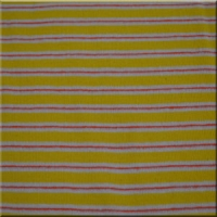 Yellow Pink and White Rib Knit Stripes