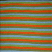 Orange Agua Green Lime Stripes