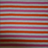 Raspberry Orange White Stripes