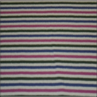Purple Raspberry Green Cream Stripes