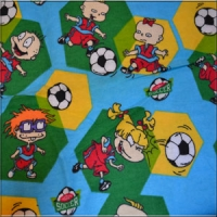 Soccer Rug Rats Flannel