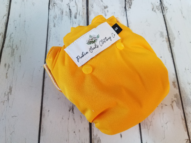 Organic Side Snap All in One Cloth Diaper Marigold AIO PUL Sized Made to Order