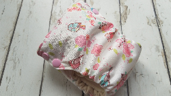Organic Side Snap All in One Cloth Diaper Birds and Flowers AIO PUL Sized Made to Order
