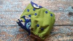 Organic Newborn AI2 Organic Cloth Diaper Natural Cotton Sleepy Sheep Wing Wrap