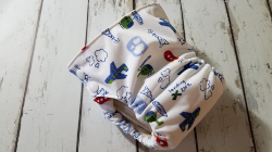 Organic Side Snap All in One Cloth Diaper Landing Zone AIO PUL Sized Made to Order