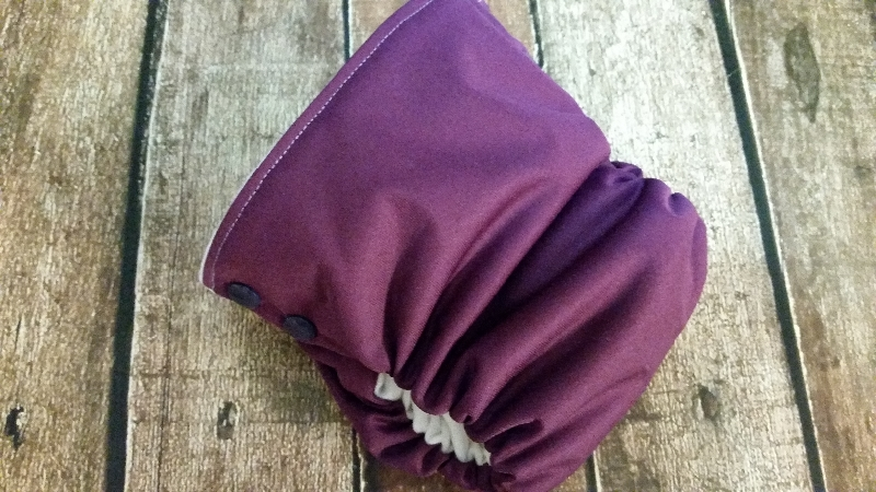 Organic Side Snap All in One Cloth Diaper You Choose Solid Colors AIO PUL Sized Made to Order