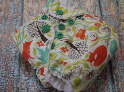 Organic Newborn AI2 Cloth Diaper Natural Cotton Fox and Ivy Made to Order
