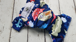 Organic Side Snap All in One Cloth Diaper Rainy Day Birds AIO PUL Sized Made to Order