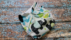 Organic Newborn AI2 Cloth Diaper Natural Cotton Baby Elephants Made to Order