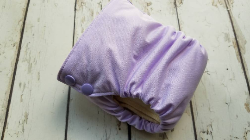 Organic Side Snap All in One Cloth Diaper Lavender AIO PUL Sized Made to Order