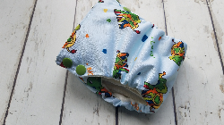 Organic Side Snap All in One Cloth Diaper Live Laugh Lead AIO PUL Sized Made to Order