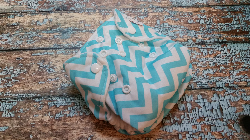 Organic Newborn AI2 Cloth Diaper Natural Cotton Aqua Chevron Made to Order