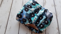 Organic Side Snap All in One Cloth Diaper Traffic Jam AIO PUL Sized Made to Order