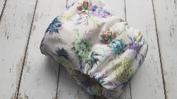 Organic Side Snap All in One Cloth Diaper Aloe I Love You AIO PUL Sized Made to Order