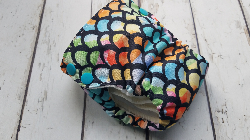 Organic Side Snap All in One Cloth Diaper Dragon Scales AIO PUL Sized Made to Order
