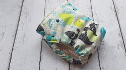 Organic Side Snap All in One Cloth Diaper Baby Elephant AIO PUL Sized Made to Order