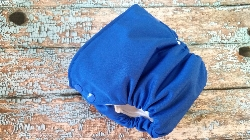 Organic Side Snap All in One Cloth Diaper Saturn Blue