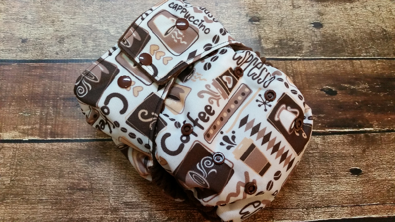 One Size Pocket Cloth Diaper Coffee 15-40 lbs