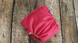 Organic Side Snap All in One Cloth Diaper Magenta with Purple Snaps