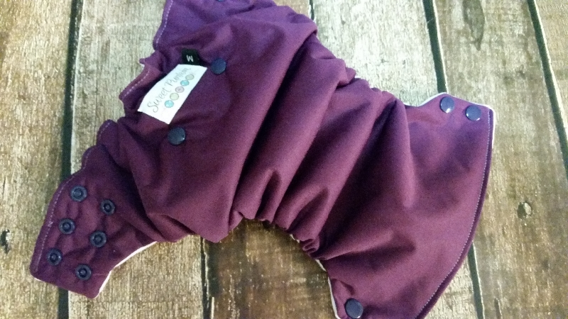 Organic Side Snap All in One Cloth Diaper Plum