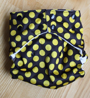 INSTOCK Yellow Polka Dot on Black MIGHTY Pocket/AI2 Pocket Fusion