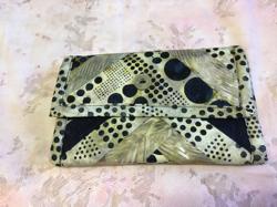 Wallet Navy/Beige Batik