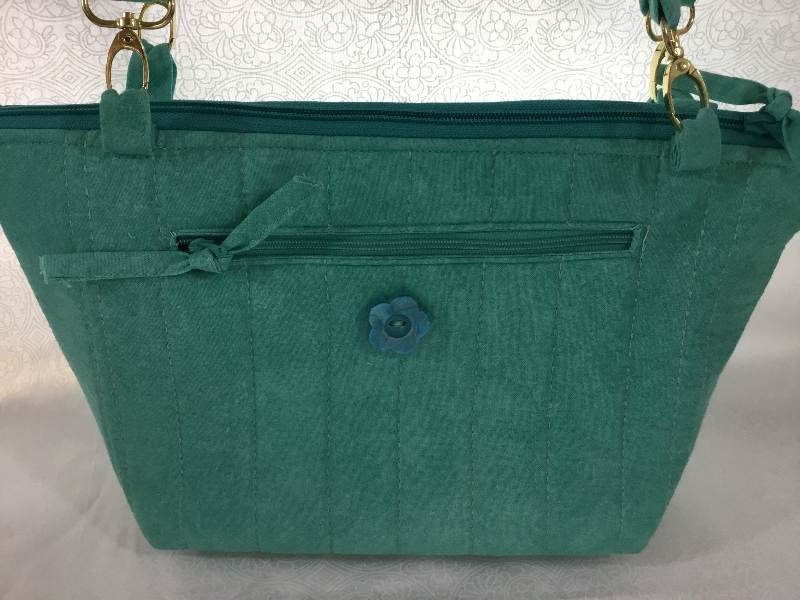 Teal check 3 in 1 bag