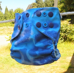 Blue/Purple Tie Dye Small Pocket Diaper