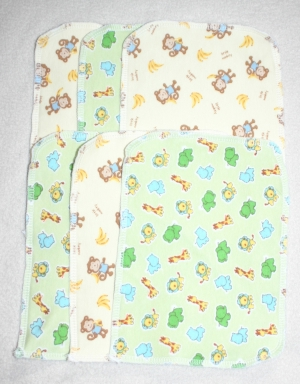 6 Cloth Baby Wipes