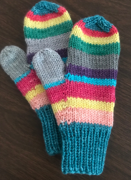 Infant, child, and adult mittens