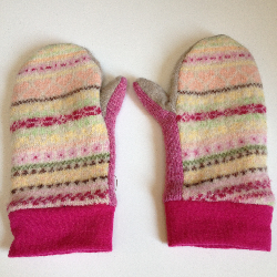 Recycled Lambswool and New Wool Jersey Adult Mittens