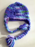 Purple Crochet Infant-Toddler Hat