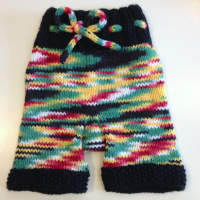 Hand Knit Hand dyed Shorties, Diaper Cover