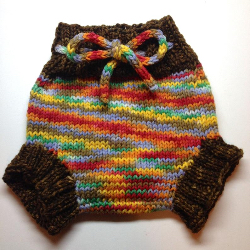 3-9 months - Diaper Cover Wool - Hand Knit Small - Medium Hand dyed Wool Soaker in Harvest Moon Colo