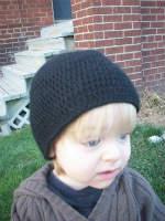 Sale - Black Crochet Alpaca Child's Hat