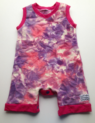 Pink and Purple Woolly Ruffle Bum Rompaloones Shorts - Size 18 months