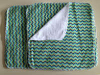 Green Chevron flannel and Birdseye cotton Unpaper towels or Napkins
