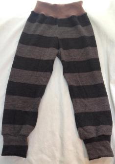 4T - Brown Stripes Recycled Merino Wool Pants